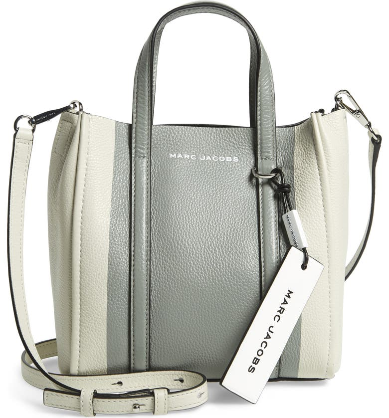 THE MARC JACOBS The Tag 21 Leather Tote, Main, color, 020