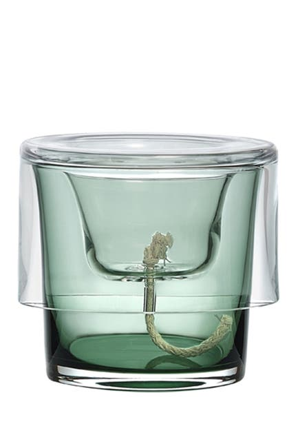 Image of Nude Glass Roots Herb Pot - Clear Top, Green Bottom