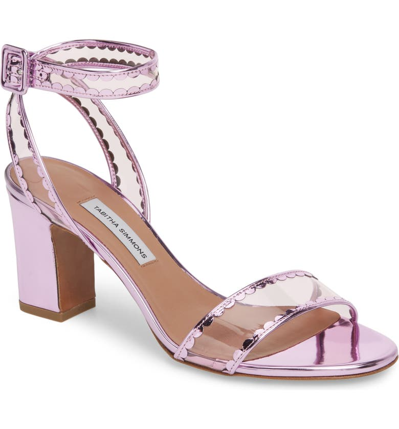 TABITHA SIMMONS Leticia Clear Ankle Strap Sandal, Main, color, 652