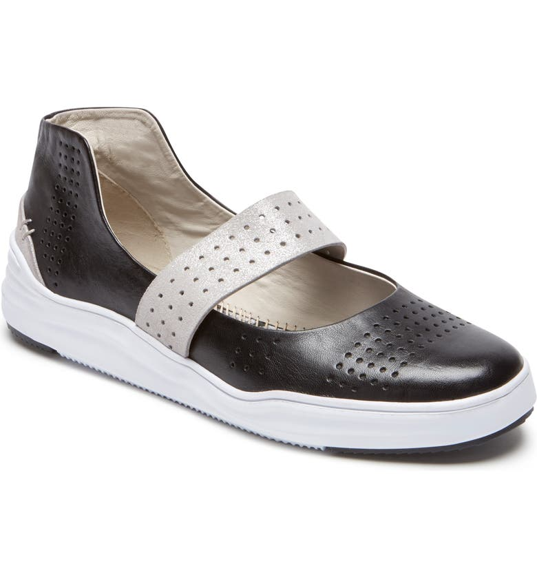 ROCKPORT COBB HILL Cady Mary Jane Sneaker, Main, color, BLACK LEATHER