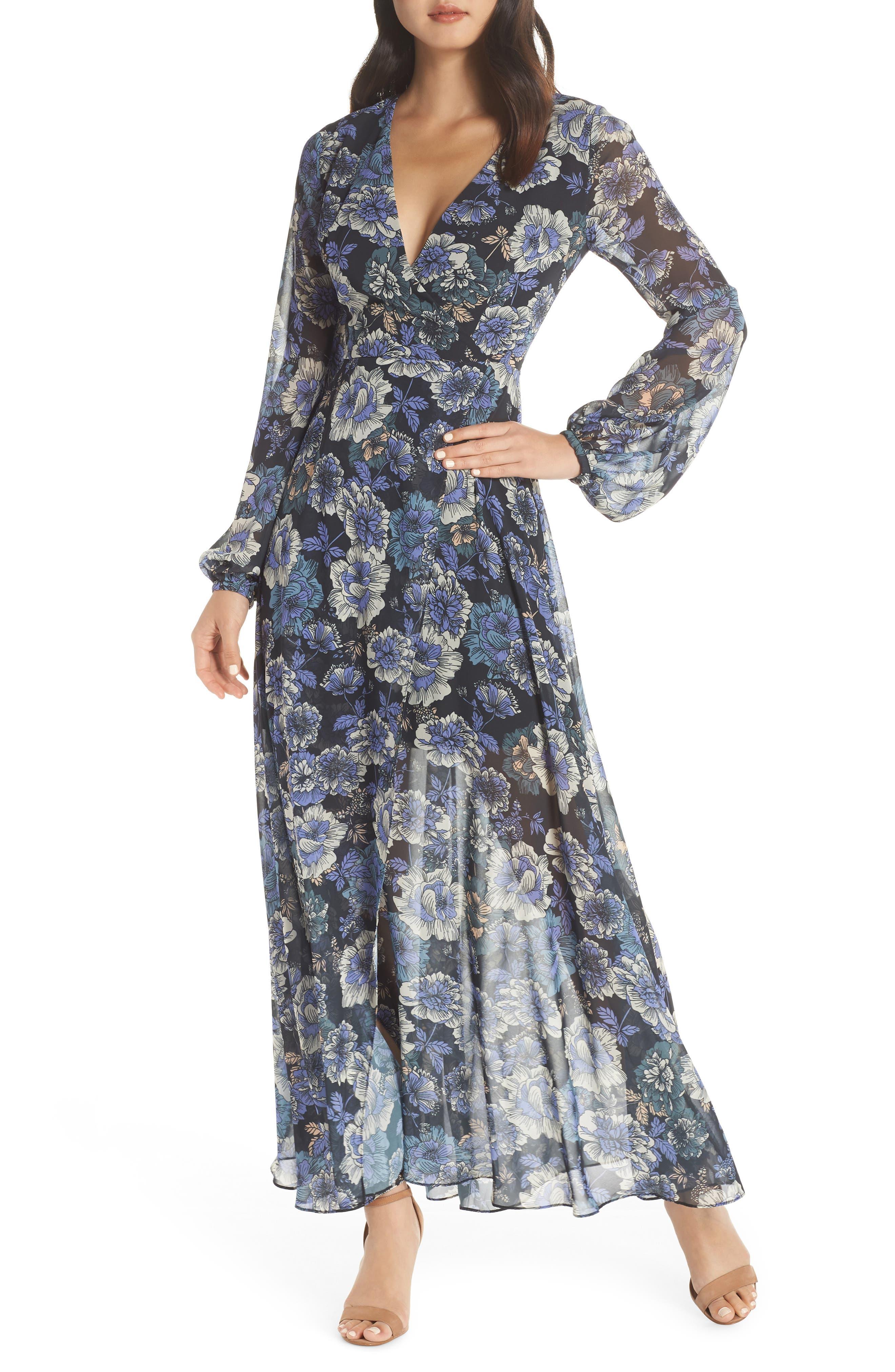 ,                             Floral Fantasy Maxi Dress,                             Main thumbnail 1, color,                             PRINT