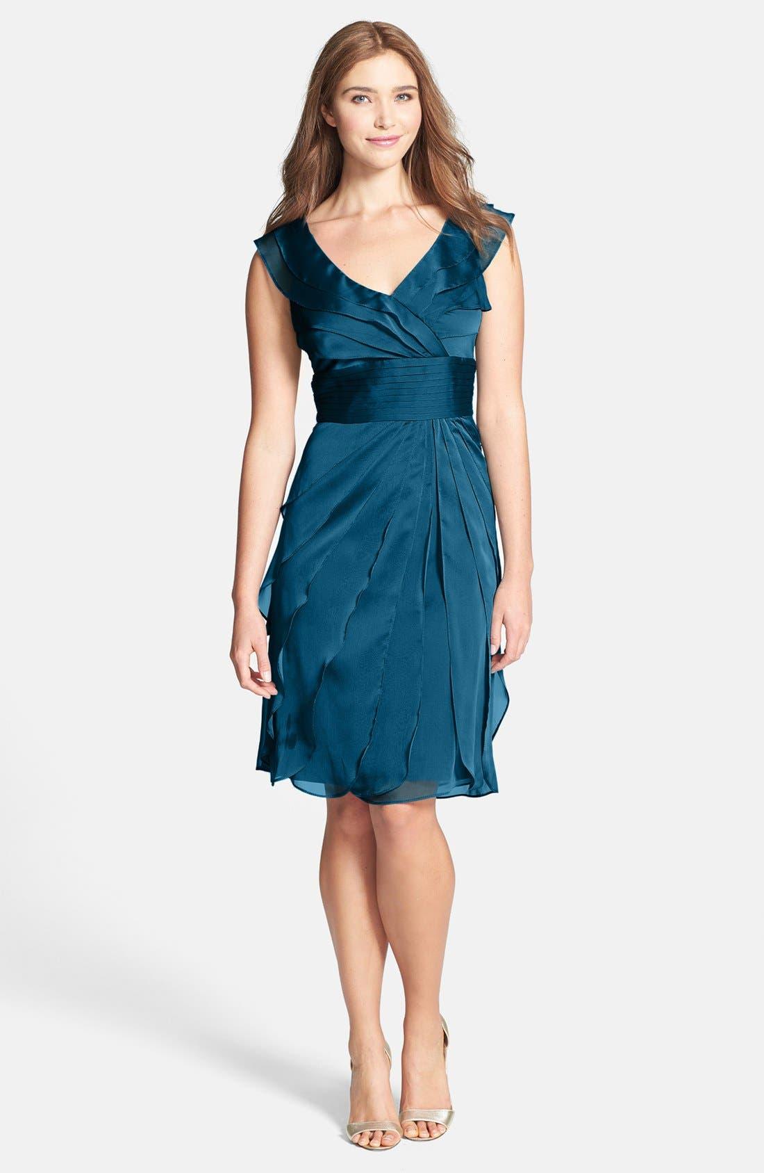 ,                             Tiered Chiffon Dress,                             Main thumbnail 6, color,                             400