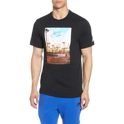 Nike Court 1 Graphic T-Shirt, Black