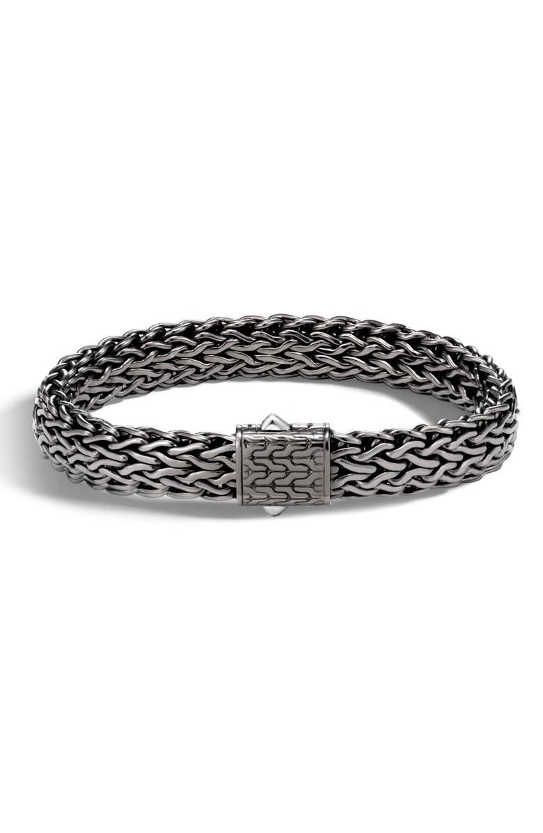 JOHN HARDY Men's Large Flat Classic Chain Bracelet, Main, color, SILVER MULTI