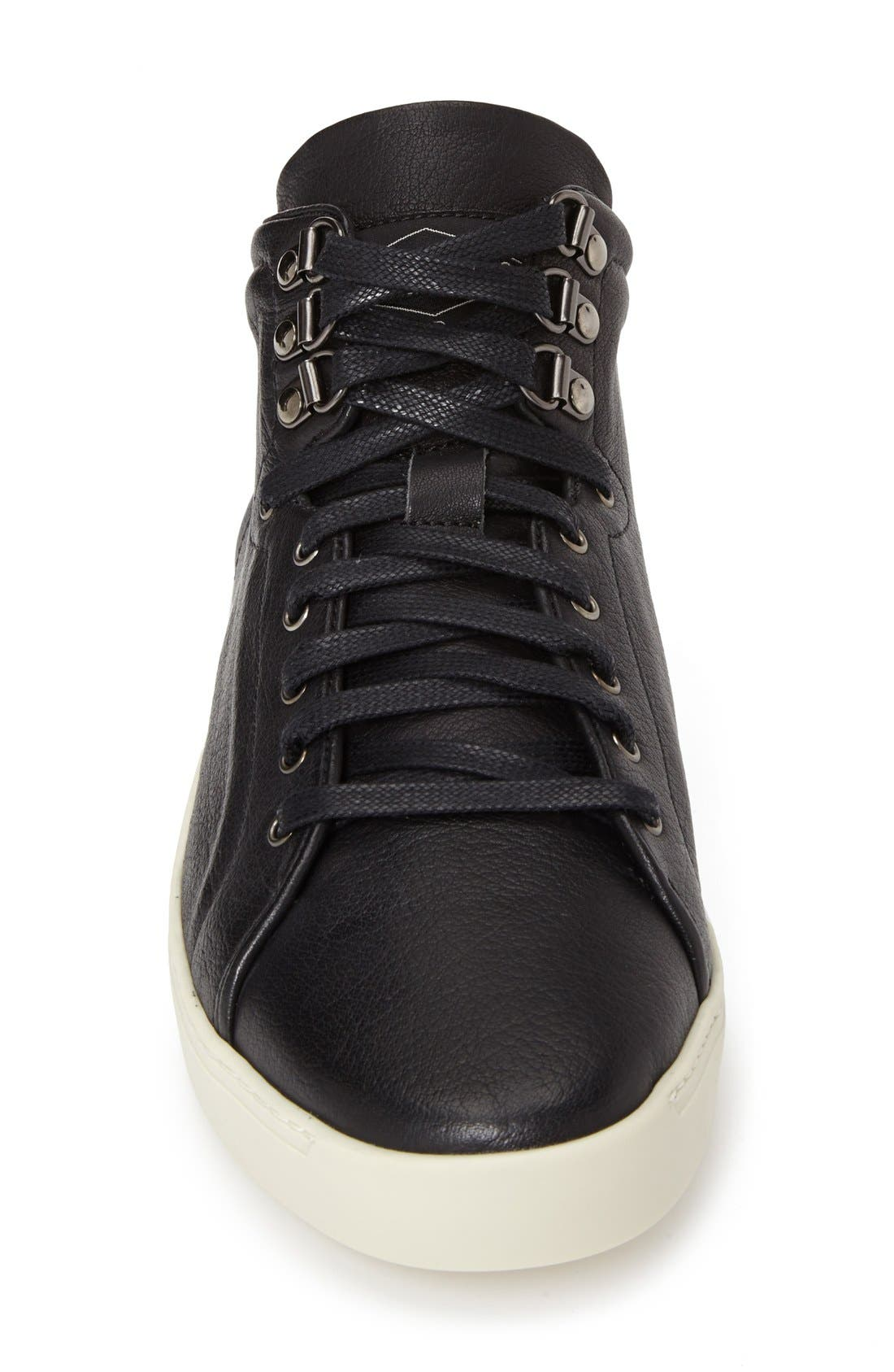 ,                             'Kent' Leather High Top Sneaker,                             Alternate thumbnail 3, color,                             001