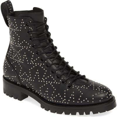 Jimmy Choo Cruz Star Studded Boot - Black