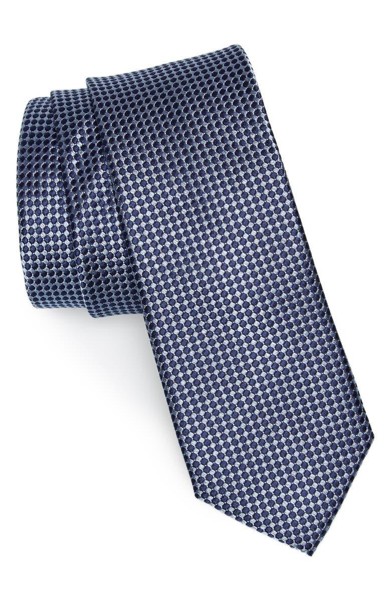 1901 Colombo Silk Tie, Main, color, BLUE