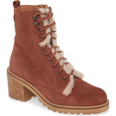 Seychelles Irresistible Faux Shearling Boot- Brown
