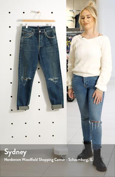 Liya High Waist Ripped Boyfriend Jeans, sales video thumbnail