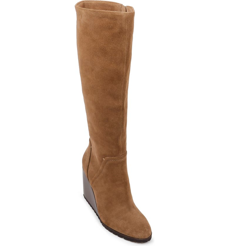 SPLENDID Patience Knee High Boot, Main, color, LIGHT BROWN SUEDE