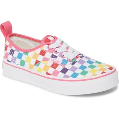 Vans Authentic Checkerboard Elastic Lace Sneaker
