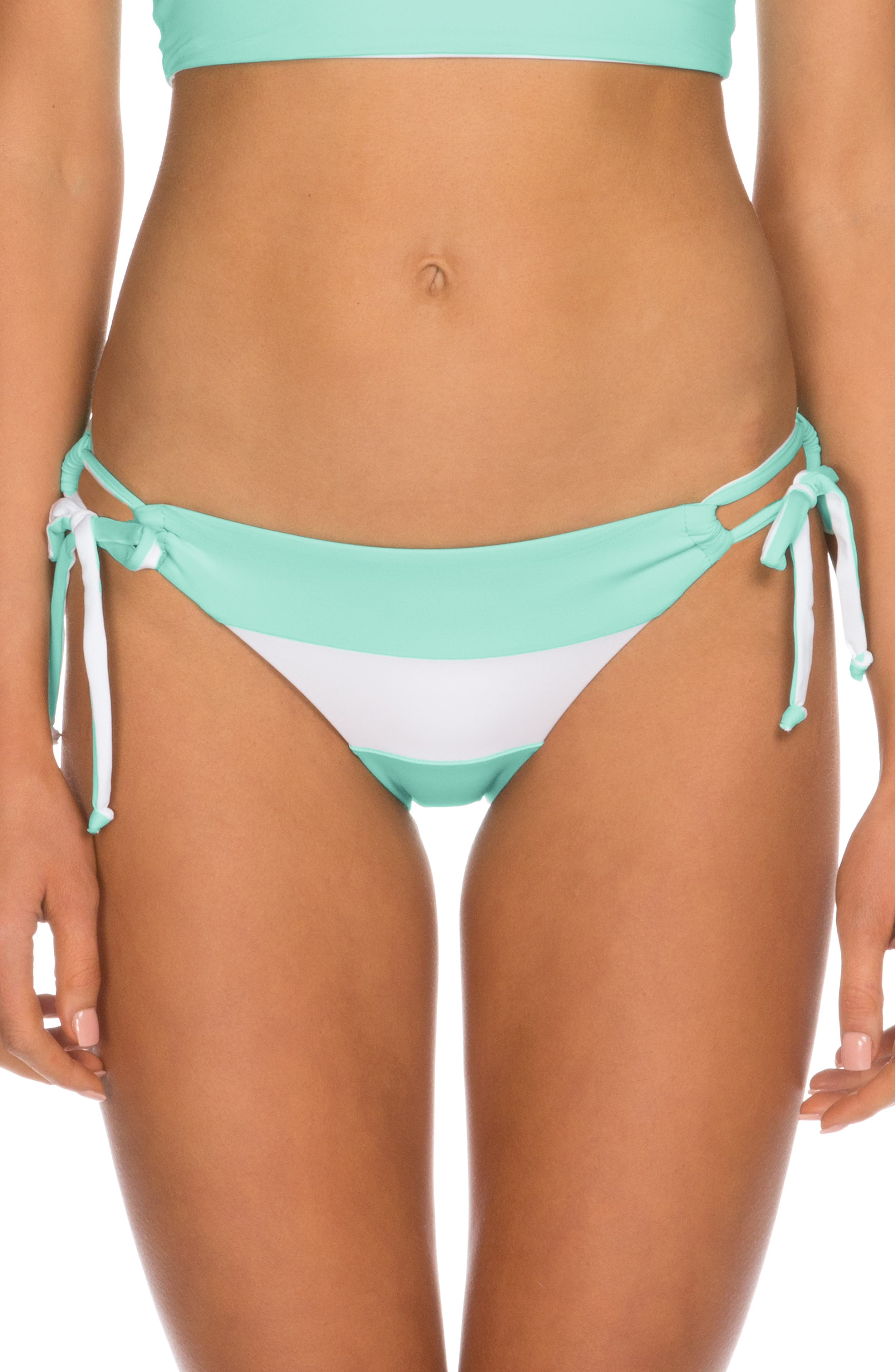 Isabella Rose Block Party Side Tie Bikini Bottoms, Blue