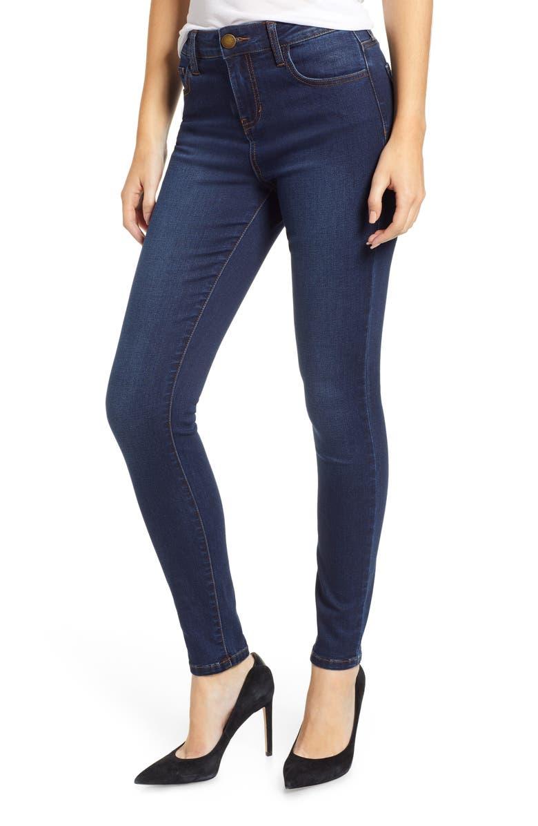 PROSPERITY DENIM High Waist Skinny Jeans, Main, color, 400