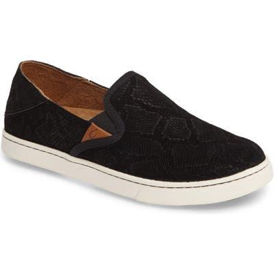 Olukai Pehuea Slip-On Sneaker, Black