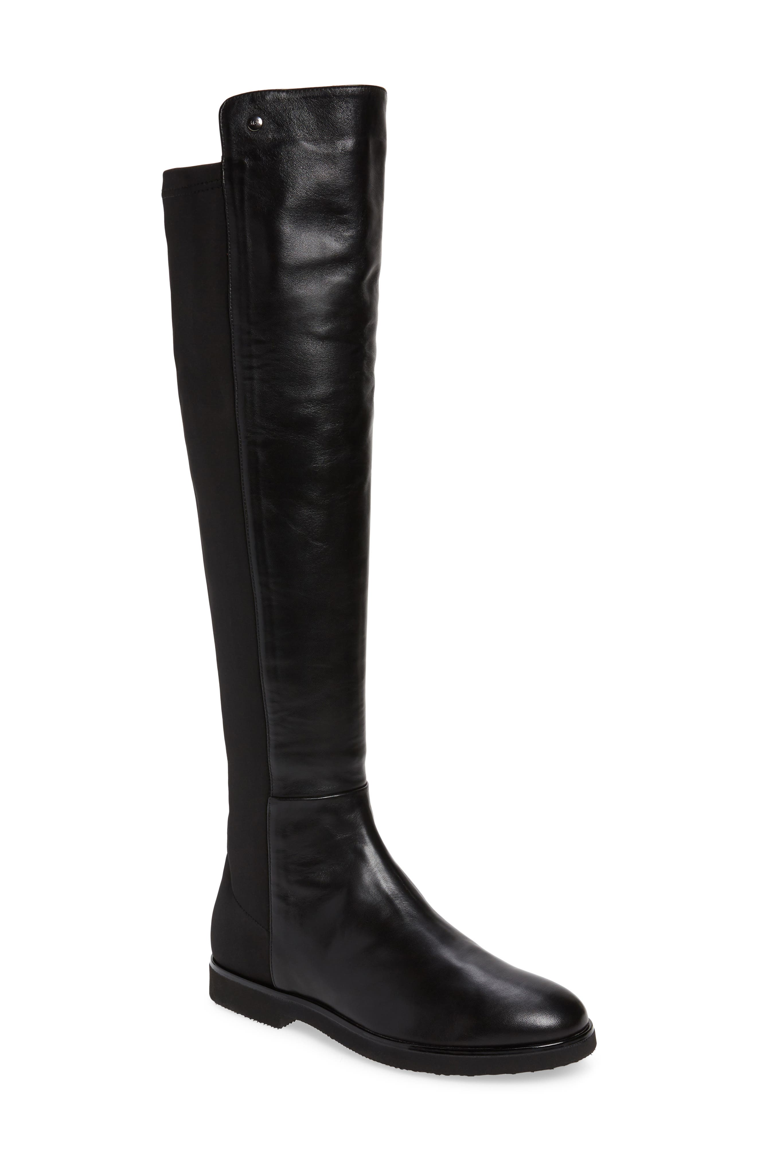 A stretchy back panel ensures a snug, flexible fit for this sophisticated tall boot grounded by a lightweight flexible sole. Style Name: Agl Softy Tall Boot (Women). Style Number: 5912458. Available in stores.