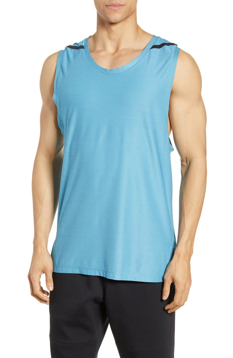 NIKE Dri-FIT Tech Pack Tank, Main, color, BLUE GAZE/ GREEN ABYSS/ BLACK