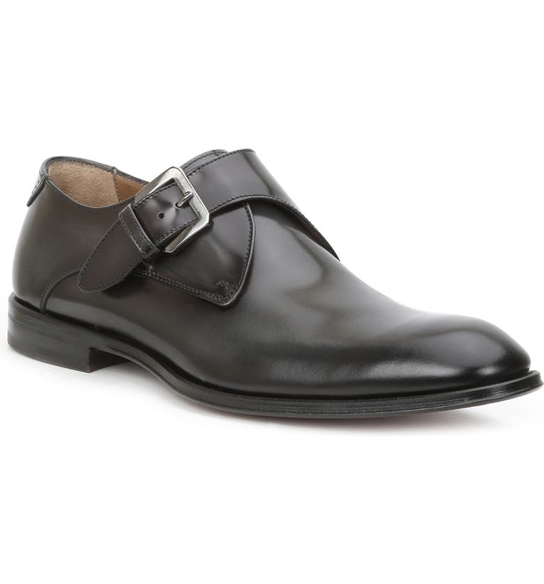 BRUNO MAGLI Lucio Monk Strap Shoe, Main, color, DARK GREY