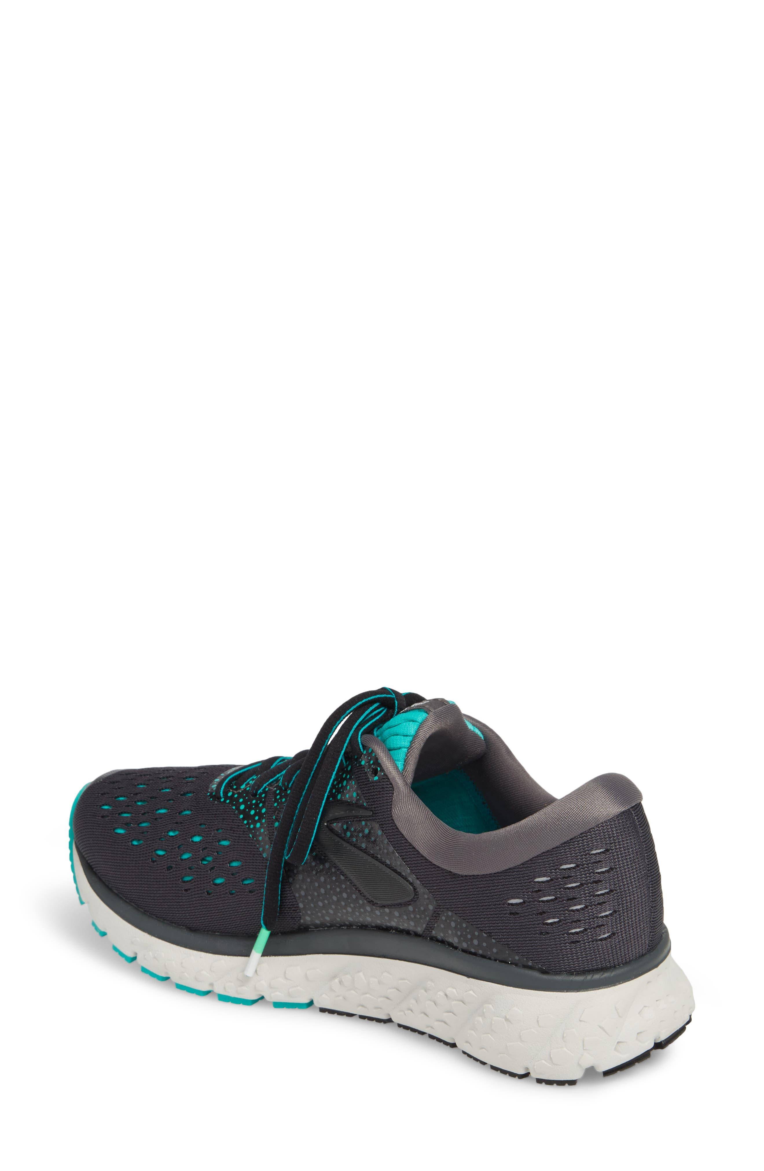 ,                             Glycerin 16 Running Shoe,                             Alternate thumbnail 2, color,                             EBONY/ GREEN/ BLACK