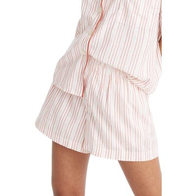 Madewell Shimmer Stripe Oversize Pajama Shorts, Black