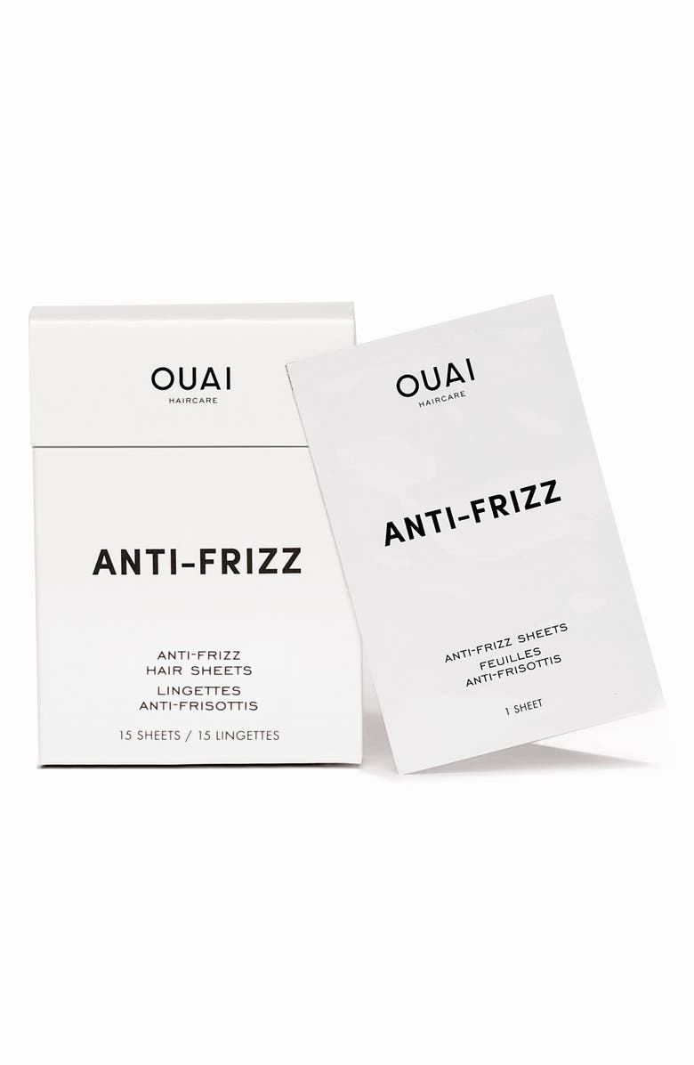 OUAI Anti-Frizz Smoothing Sheets, Main, color, NO COLOR