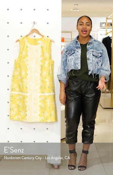 Sleeveless Lace Trim Floral Shift Dress, sales video thumbnail