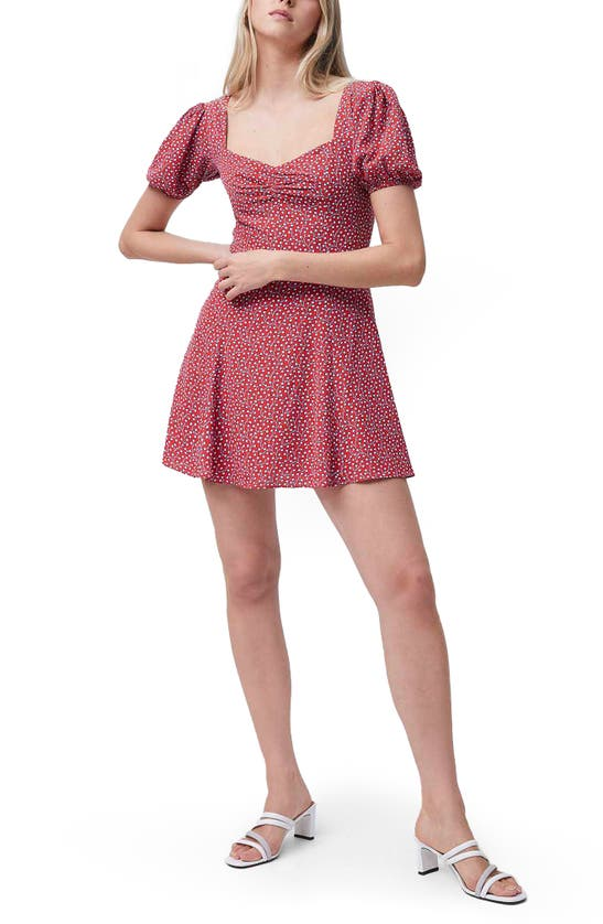 French Connection Dresses ELAO FLORAL PUFF SLEEVE MINIDRESS