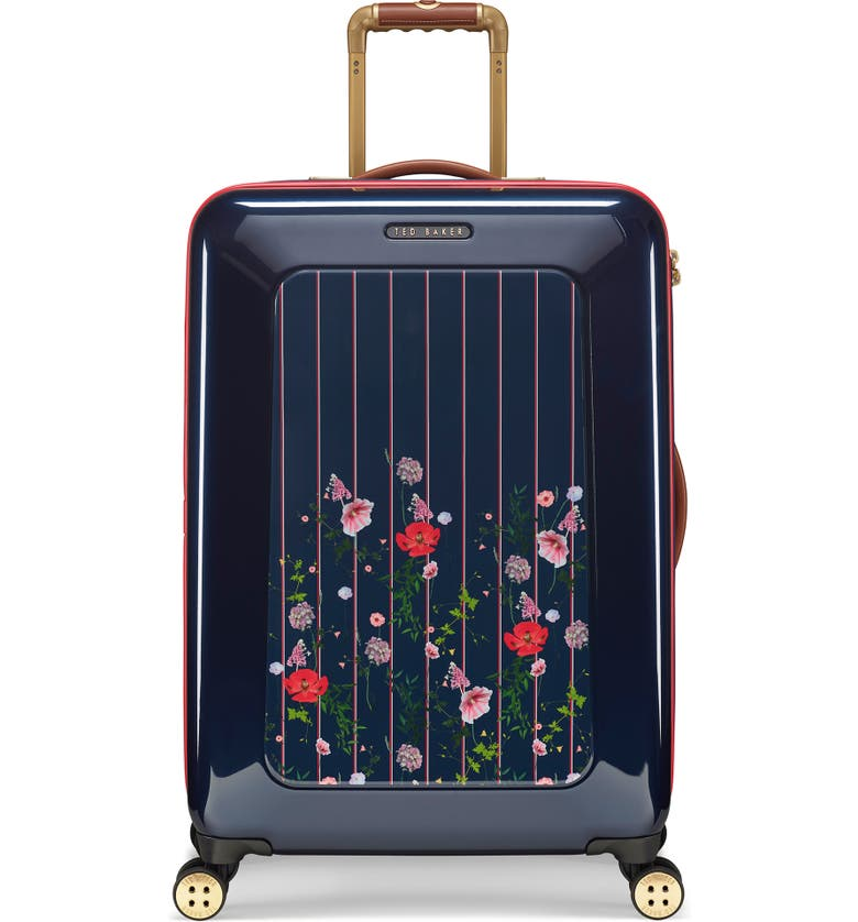 TED BAKER LONDON Medium Take Flight Hedgerow 28-Inch Hard Shell Spinner Suitcase, Main, color, BLUE