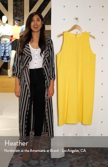 Side Stripe Crepe A-Line Dress, sales video thumbnail