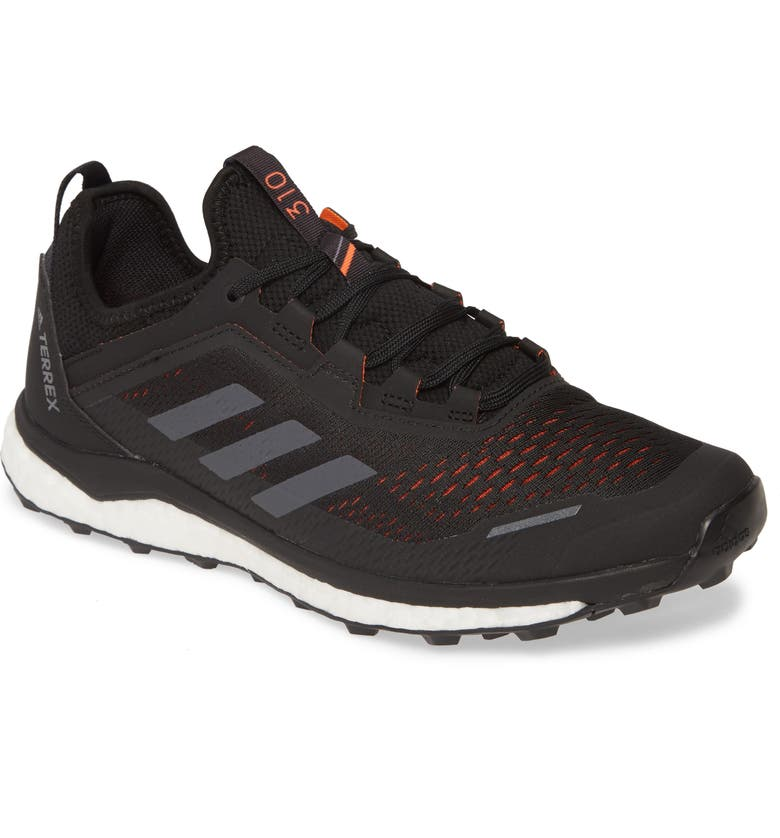 ADIDAS Terrex Agravic Flow Trail Running Shoe, Main, color, BLACK/ GREY/ SOLAR ORANGE