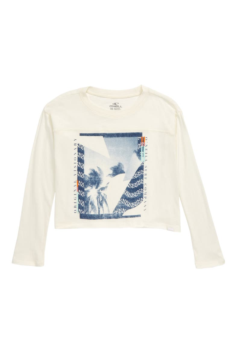 O'NEILL Palm Song Long Sleeve Tee, Main, color, NAKED