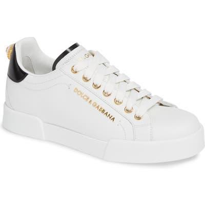 Dolce & gabbana Portofino Embellished Sneaker, White