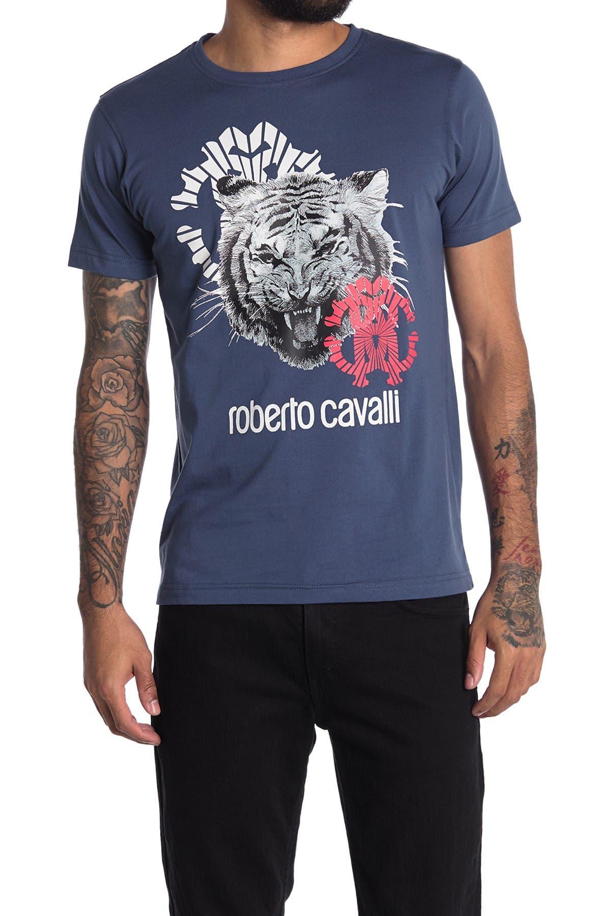 Image of Roberto Cavalli Logo T-Shirt