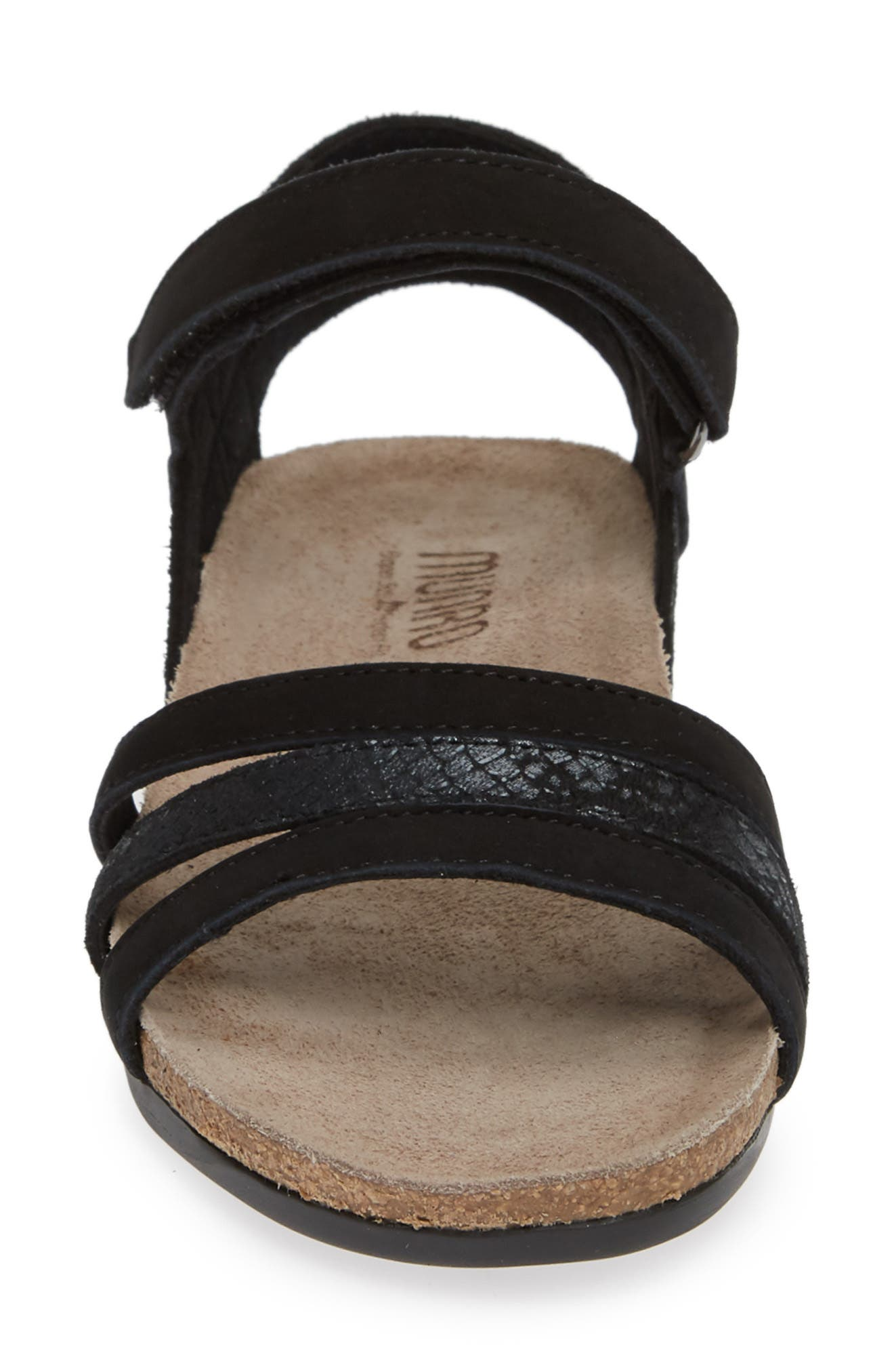 ,                             Summer Sandal,                             Alternate thumbnail 4, color,                             BLACK COMBO NUBUCK
