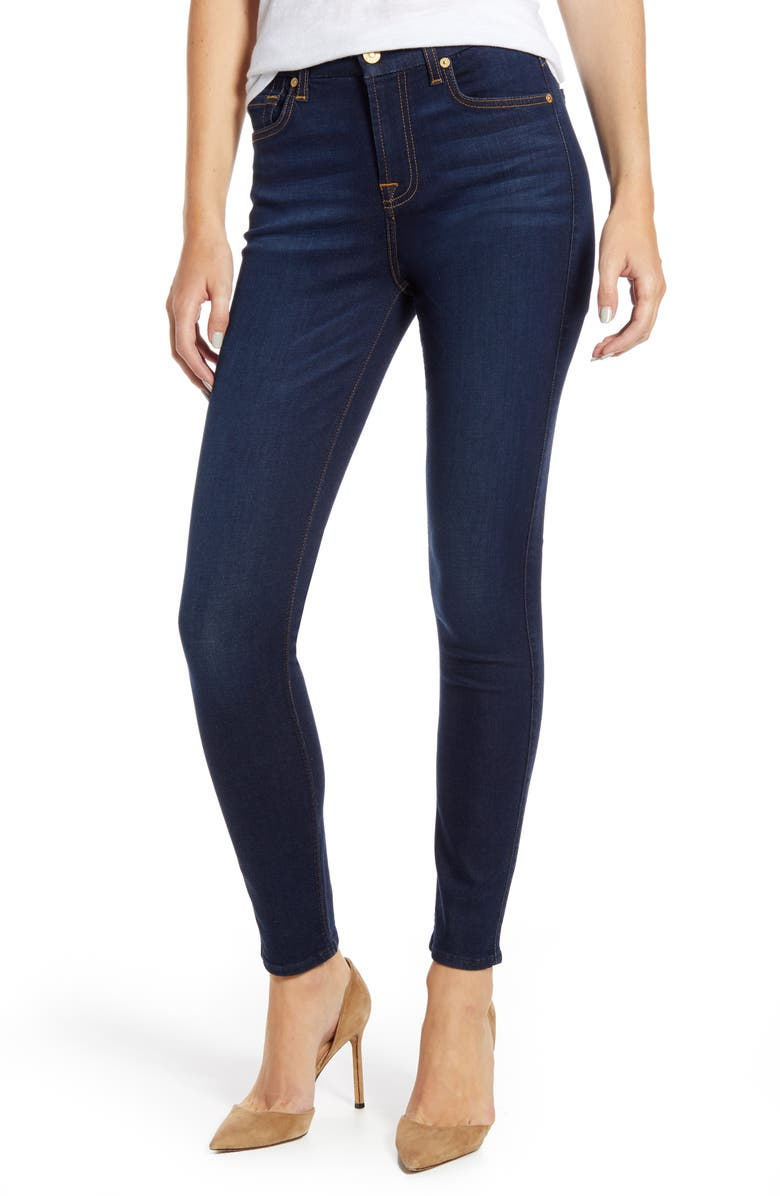 half off cheaper run shoes Slim Illusion High Waist Ankle Skinny Jeans