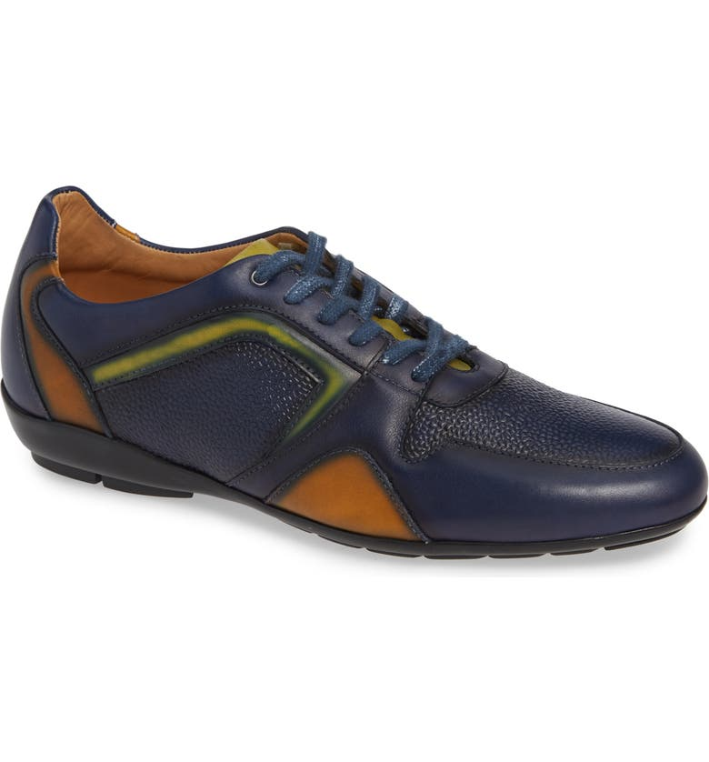 MEZLAN Campo Sneaker, Main, color, BLUE LEATHER