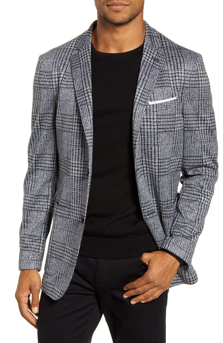 VINCE CAMUTO Regular Fit Sport Coat, Main, color, GREY JACQARD