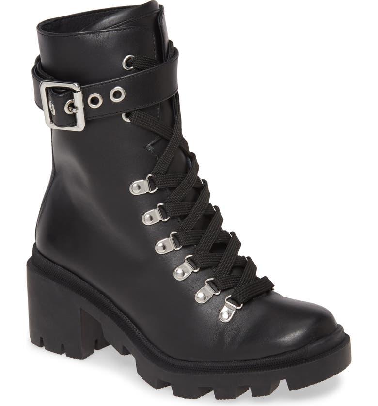 SILENT D Nigel Combat Boot, Main, color, BLACK