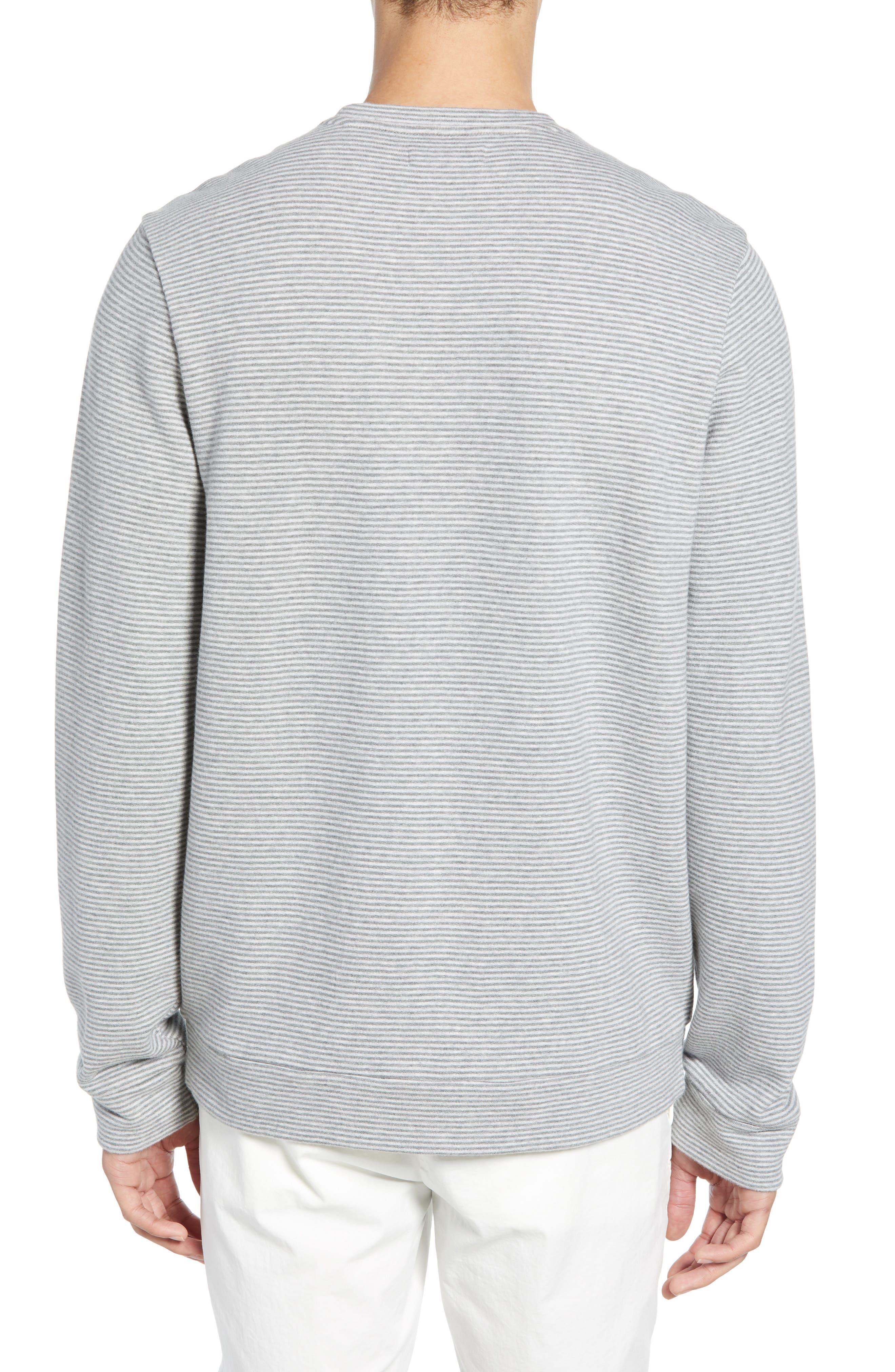 ,                             Stripe Fleece Pullover,                             Alternate thumbnail 2, color,                             CREAM GREY STRIPE