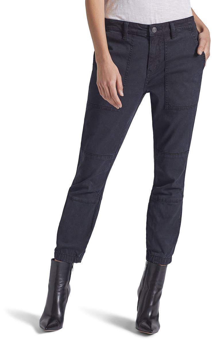 CURRENT/ELLIOTT The Weslan Cotton Blend Pants, Main, color, 001