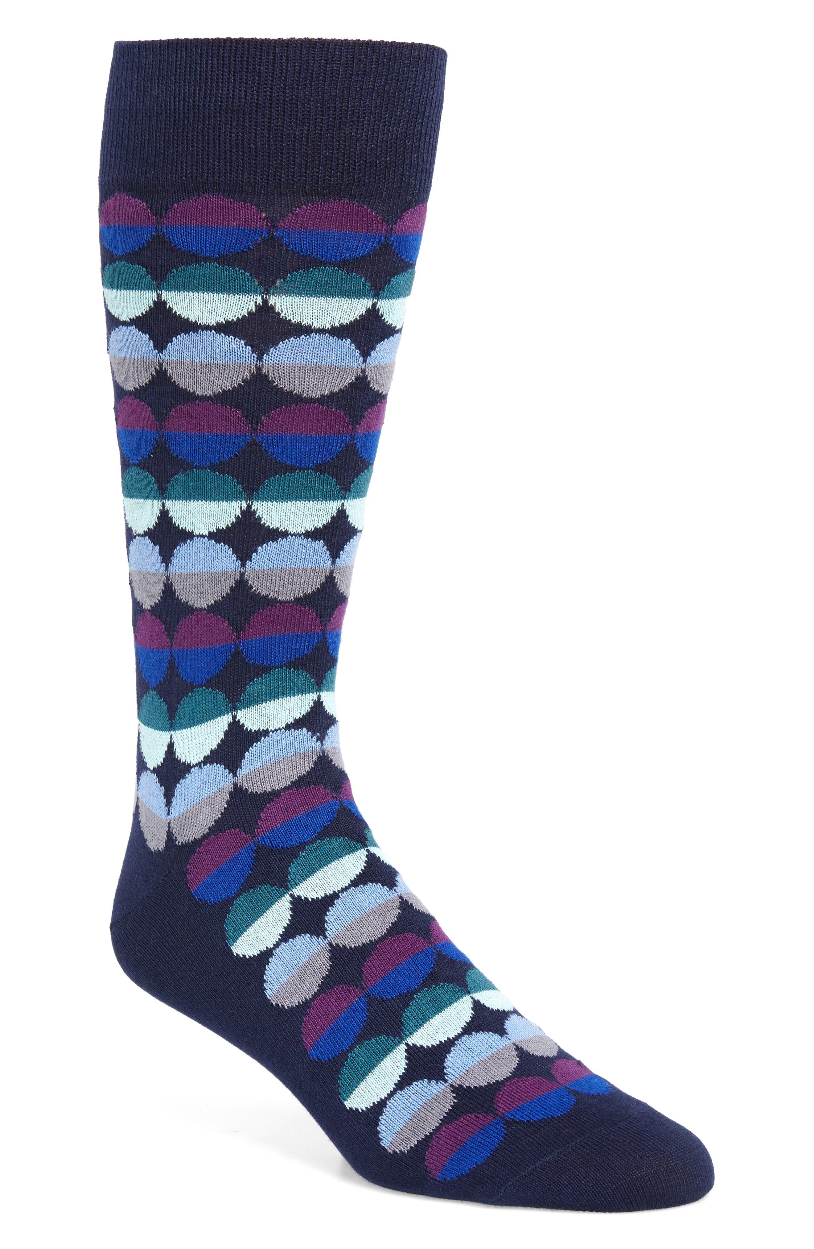 ,                             Sunset Dot Socks,                             Main thumbnail 3, color,                             415