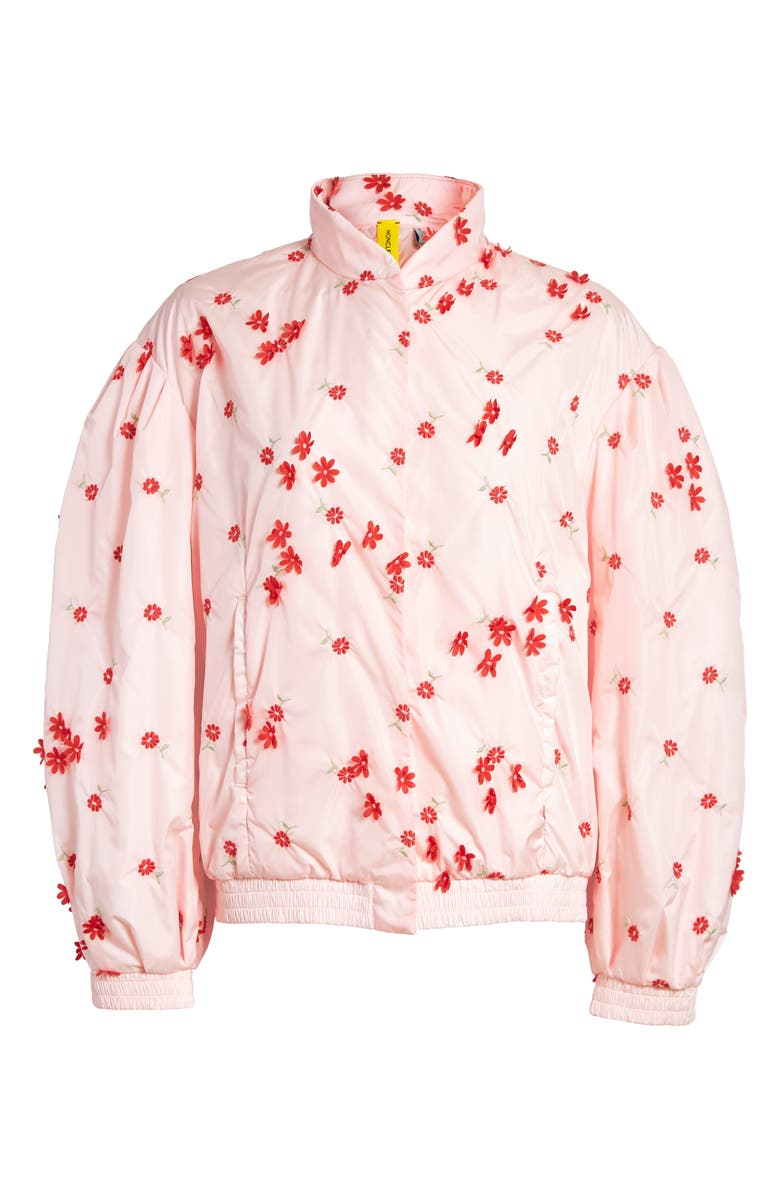 MONCLER GENIUS x 4 Simone Rocha Floral Embellished Down Bomber Jacket, Main, color, 681