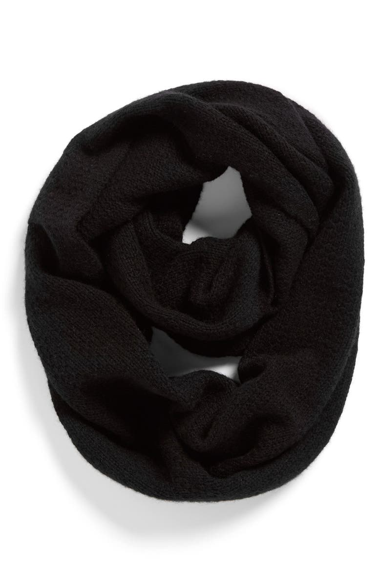HALOGEN<SUP>®</SUP> Pointelle Knit Wool & Cashmere Infinity Scarf, Main, color, 001