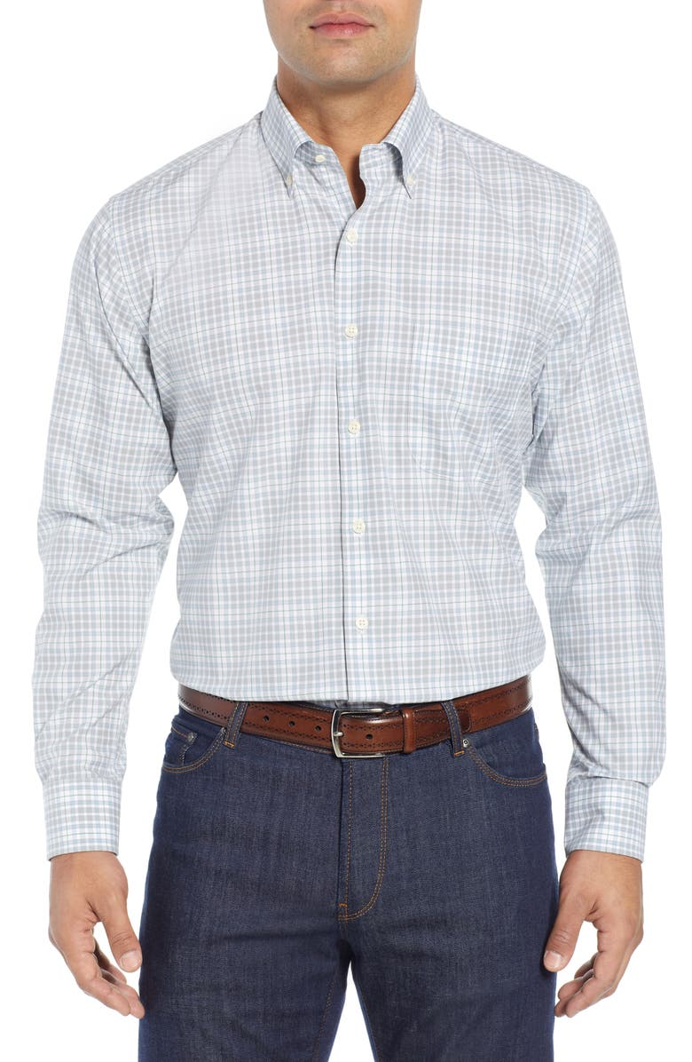 PETER MILLAR Belltown Tartan Sport Shirt, Main, color, 029
