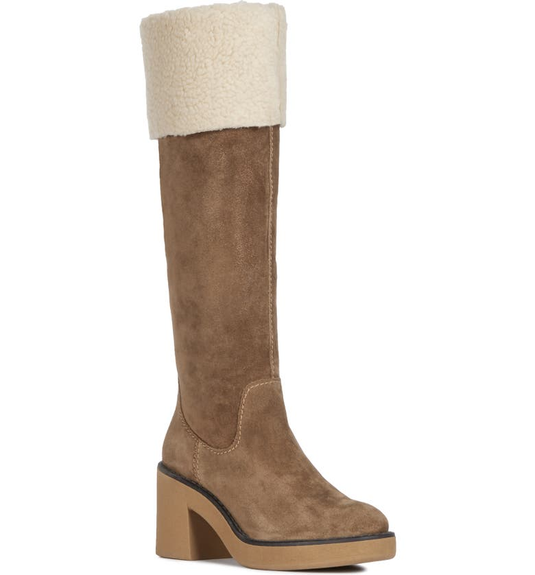 GEOX Adrya Boot, Main, color, TOBACCO/ CREAM SUEDE