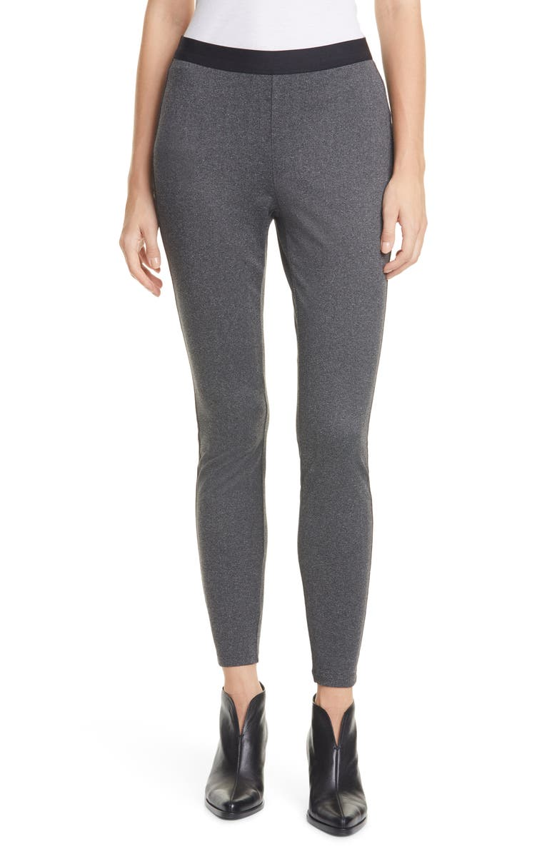 EILEEN FISHER Stretch Recycled Polyester Ankle Leggings, Main, color, 021