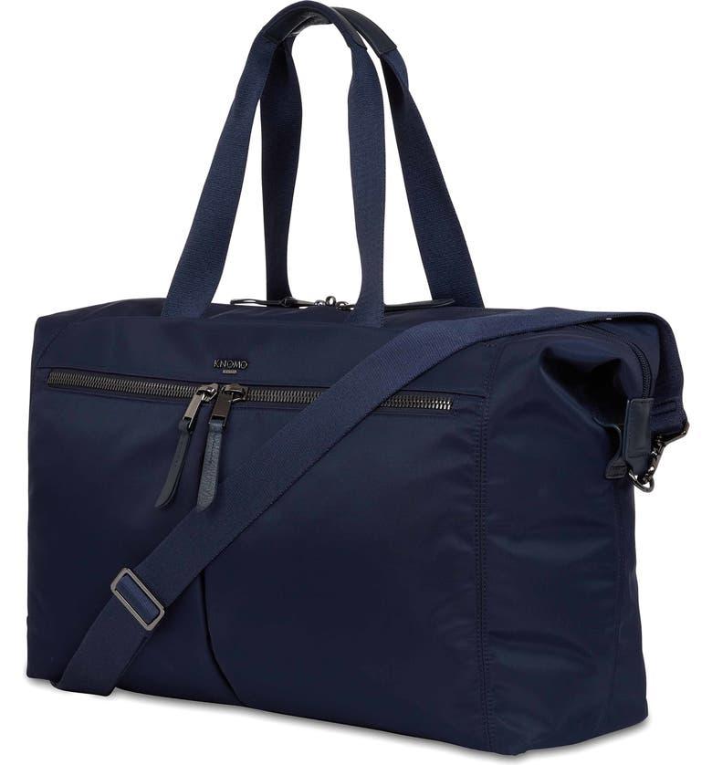 KNOMO LONDON Mayfair Capsule Stratton Duffle Bag, Main, color, DARK NAVY