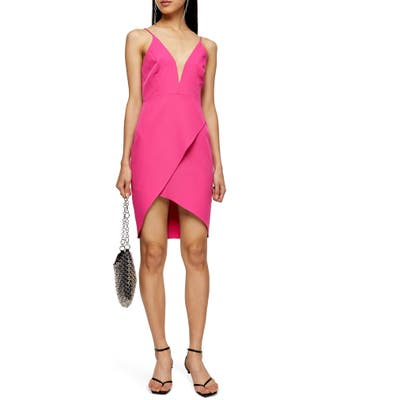 Topshop Plunge Slipdress, US (fits like 0) - Pink