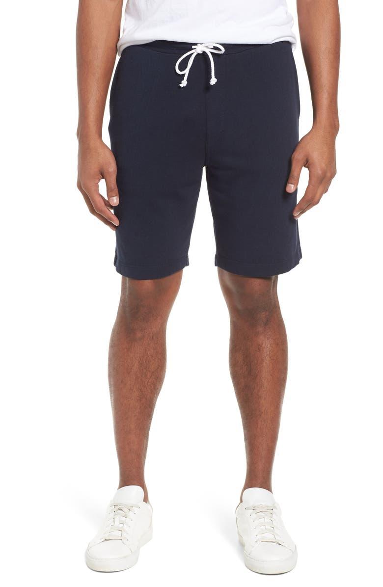 M.SINGER Lounge Sweat Shorts, Main, color, NAVY