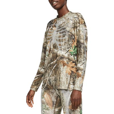 Nike Realtree Skeleton Long Sleeve Top, Brown