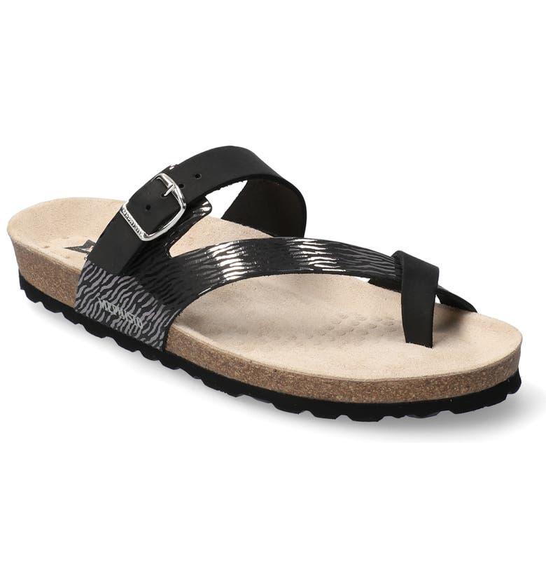 MEPHISTO Nalia Slide Sandal, Main, color, BLACK NUBUCK LEATHER